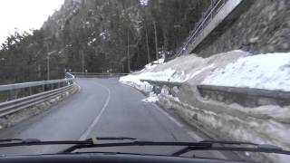 ourtour driving a 6m motorhome up hairpins on the petit st bernard pass