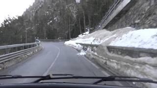 ourtour driving a 6m motorhome up hairpins on the petit st bernard pass