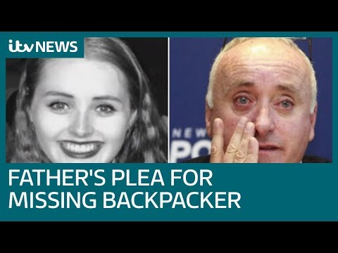 Father's emotional plea as police have 'grave fears' for backpacker | ITV News
