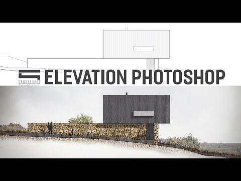 Elevation Photoshop - Photoshop Architecture