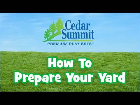 How To Prepare Your Yard For A Play Set Installation Youtube