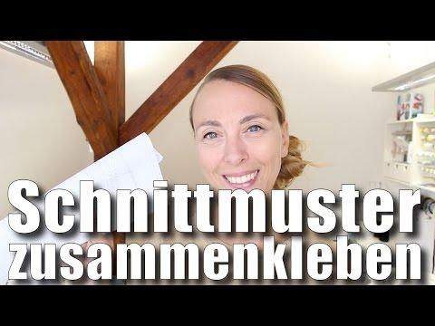 Schnittmuster (schneller) kleben - mit Anna von einfach nähen - YouTube