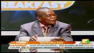 Power Breakfast:  Waiguru's exit