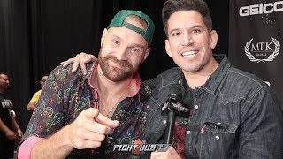 """TYSON FURY LEARNS HIS FAVORITE SAYINGS IN SPANISH! RESPONDS TO RUIZ'S """"STAY IN YOUR LANE"""" COMMENT"""