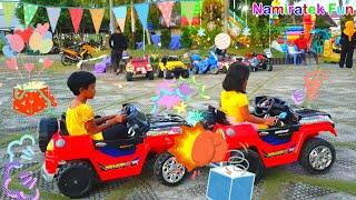 Pokemon Naik odong-odong mobil-mobilan anak, Naik Istana Balon, Naik Kereta Api Anak Thomas & Teman