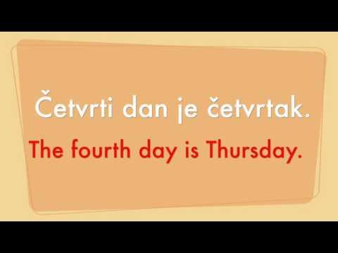 Lekcija 9 - Dani u tjednu (nauci-engleski.com)