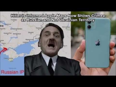 Hitler is Informed Apple Maps Now Shows Crimea as Russian and Not Ukrainian Territory