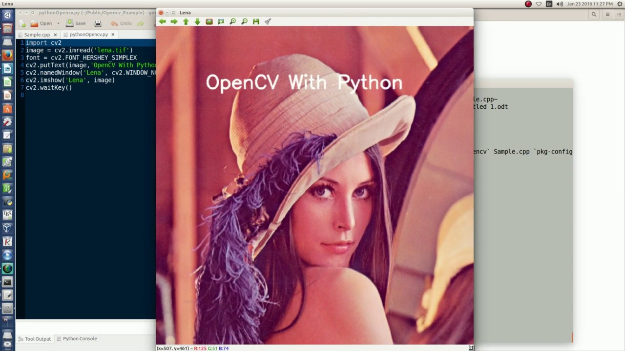 Install Opencv 3 1 0 on Ubuntu 14 04 and example in cpp and python