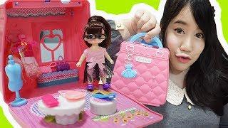รีวิว บ้านตุ๊กตาจิ๋ว ~♡ ของเล่นน่ารัก ฉบับพกพา \^o^/ |Play House Hand Bag