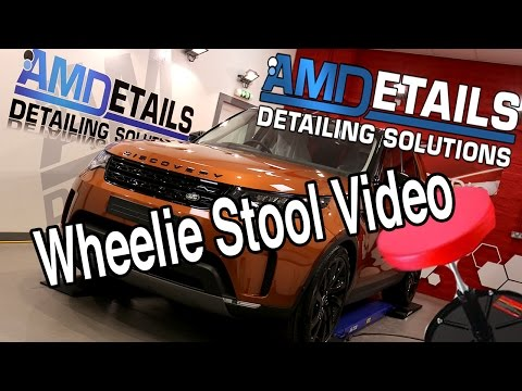 2017 Discovery 5 in Namib Orange -  Wheelie Stool Review of Gtechniq Detailing