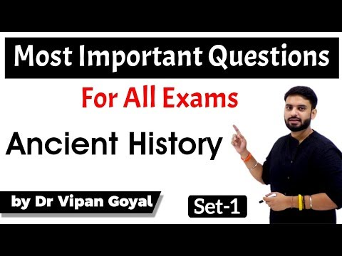 Ancient History | MCQs For UPSC State PCS SSC CGL Railways By Dr Vipan Goyal | Set 1