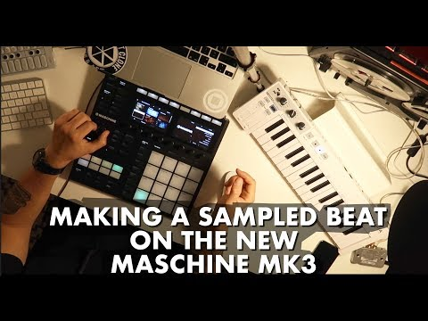 Maschine MK3 in full action! ( Sampled beat making)