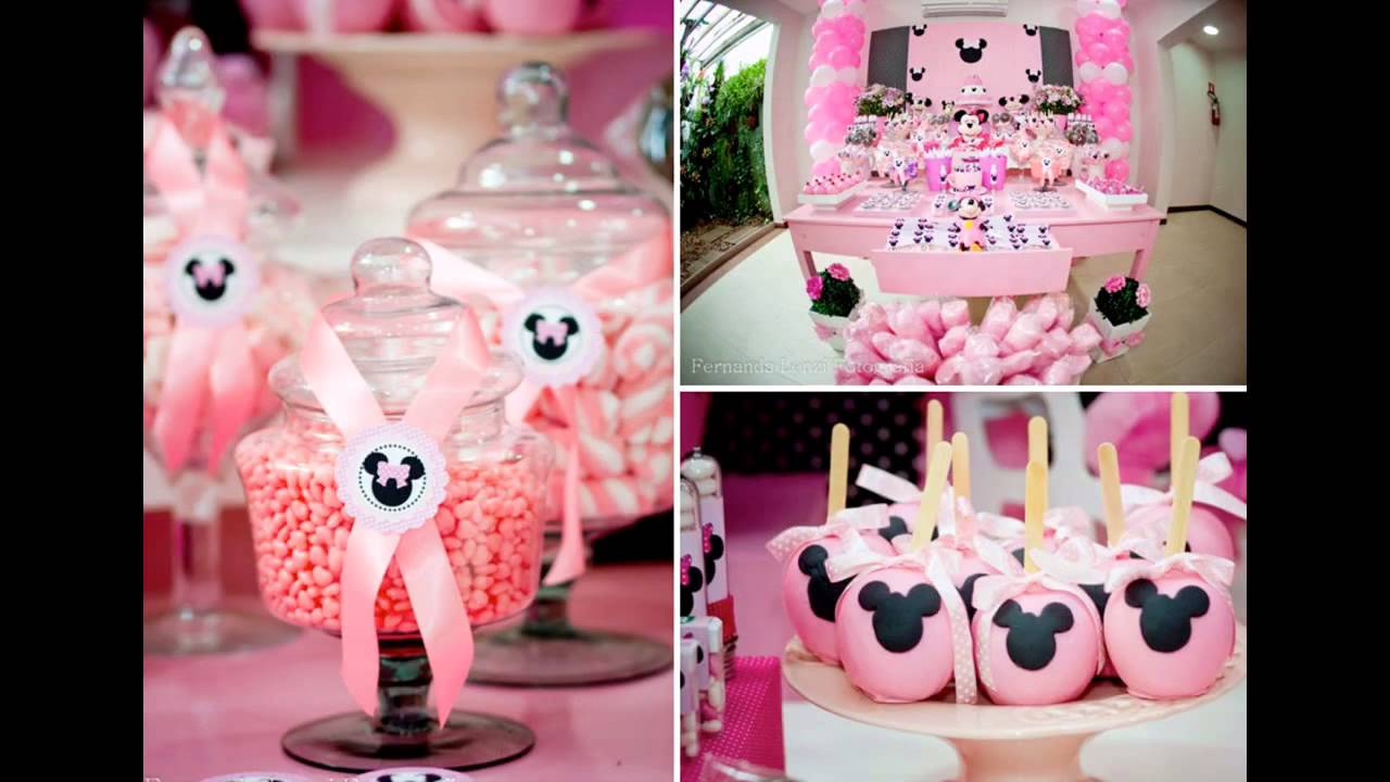 Wonderful Minnie mouse 1st birthday party decoration