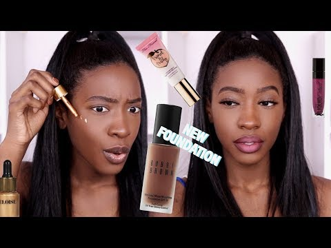 Testing NEW (To Me) Makeup | New Bobbi Brown Skin Long-Wear Weightless Foundation