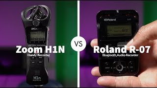Epic Battle For YouTube Supremacy Zoom H1n vs Roland R-07 Audio Recorders