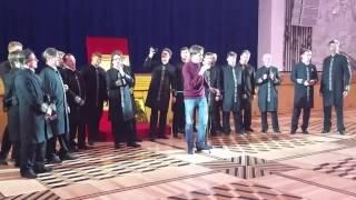 Олег Погудин с хором Валаамского монастыря(