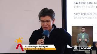 Alcaldía de Bogotá lanza sistema de donaciones, #BogotáSolidariaEnCasa