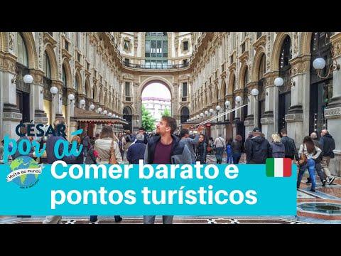 MILÃO, ITÁLIA - COMER BARATO, DUOMO DE MILÃO E PONTOS TURÍSTICOS (Lugares do Mundo #9)