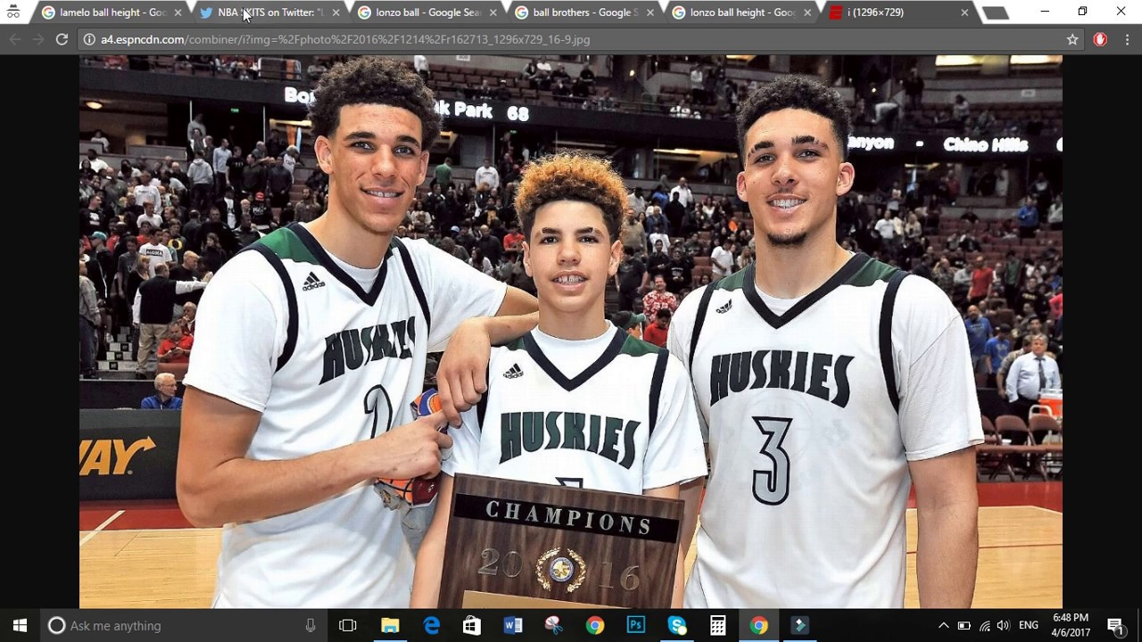 HOW TALL ARE THE BALL BROTHERS? LAMELO, LONZO, LIANGELO ...
