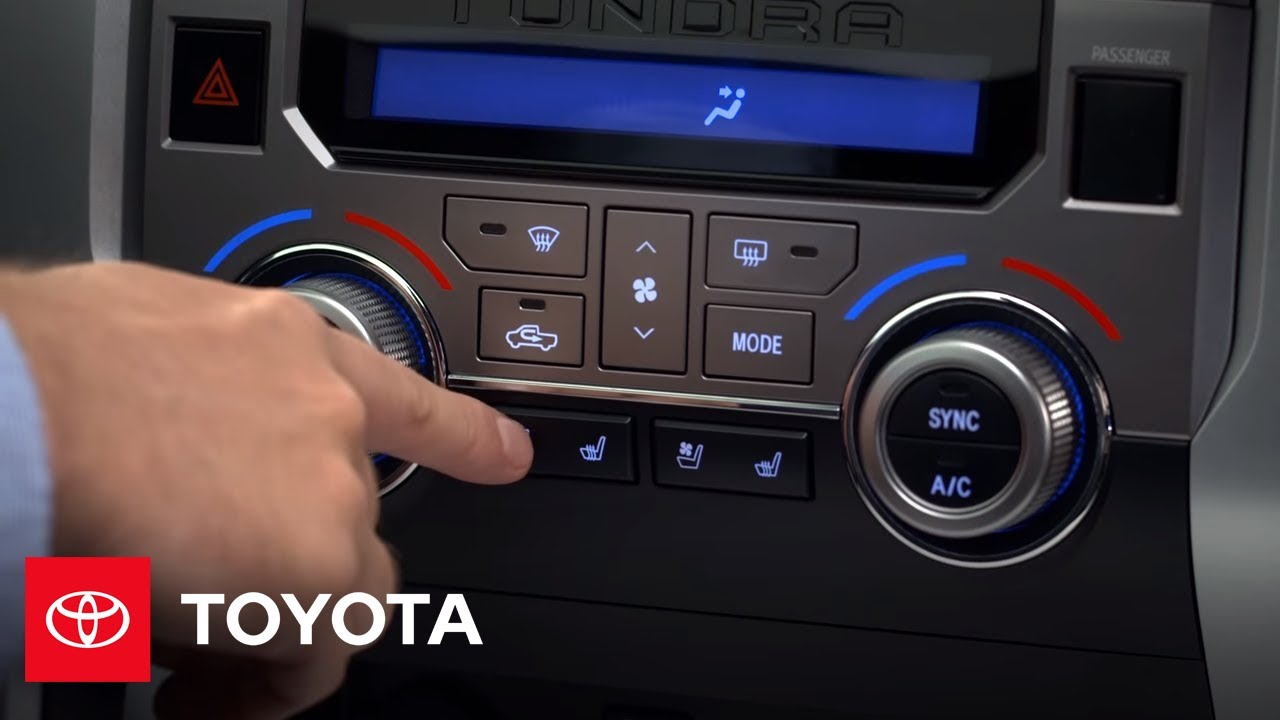 2014 Tundra How To Heated And Ventilated Front Seats
