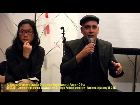HiMY SYeD - Panel Q & A, Downtown Eastside Community Retail Research Forum CEDSAC, Vancouver 1/18/17
