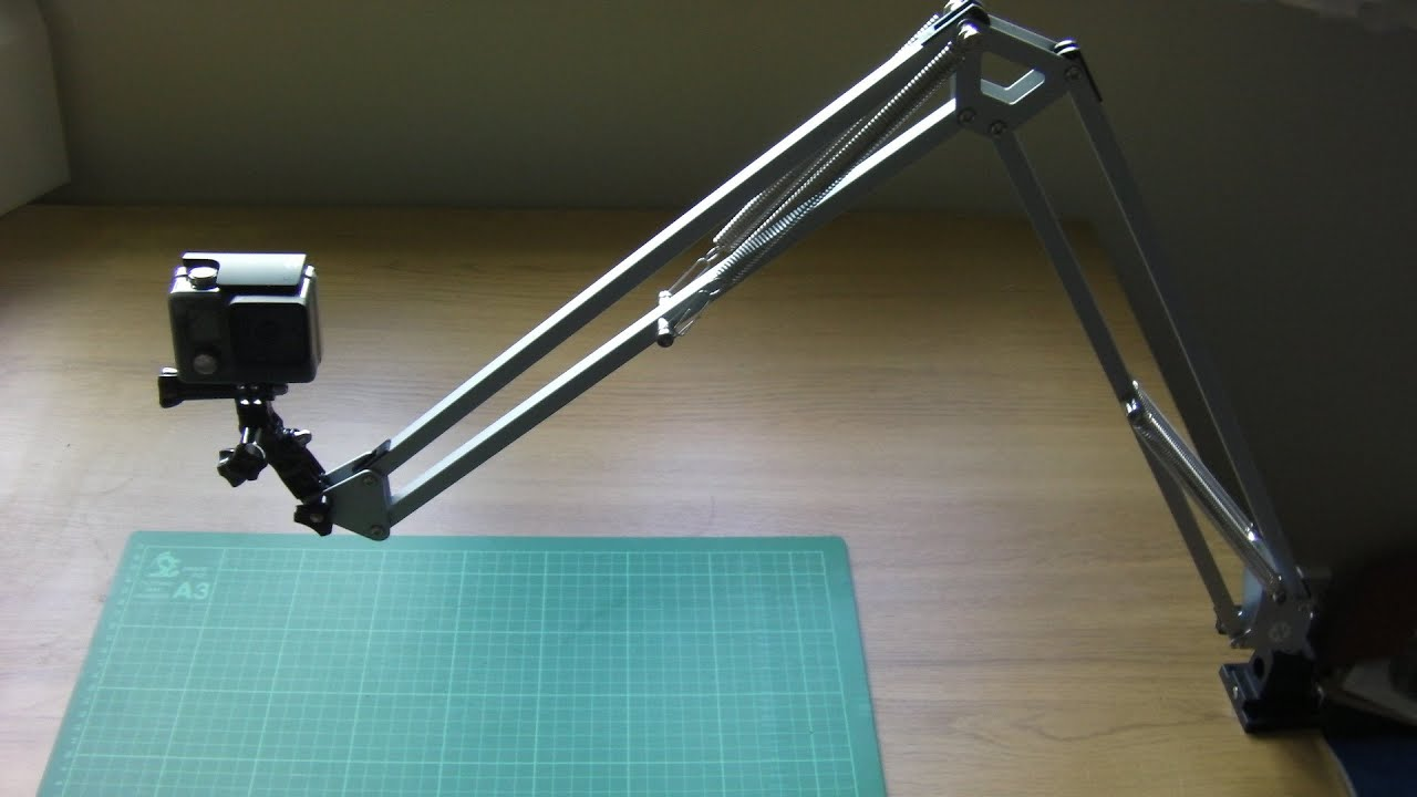 How To Make An Overhead Camera Swing Arm Mount Youtube