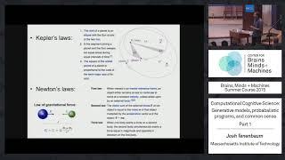 Lecture 2.1: Josh Tenenbaum - Computational Cognitive Science Part 1