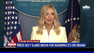 Press Secy. McEnany slams media for ignoring questions on Obama