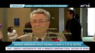 Gheorghe Mărmureanu, declaraţie şocantă despre valul de cutremure care a lovit România