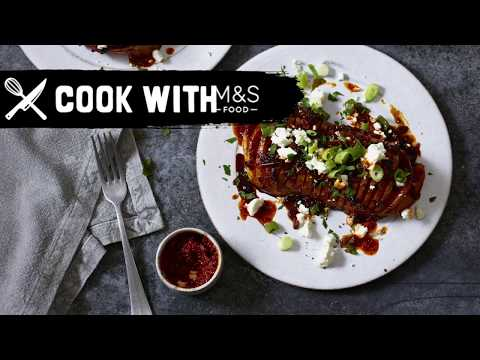M&S   Cook With M&S... Sweet & Sticky Harissa Roasted Squash