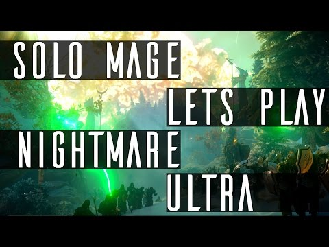 Dragon Age Inquisition: Solo Mage Nightmare - No crafting, Drops only