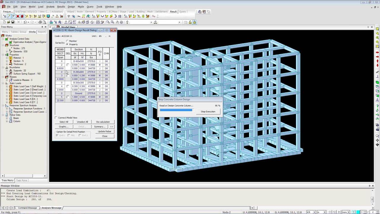 Rc Building Design As Per Aci 318 11 Midas Gen Webinar