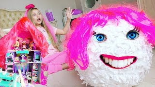 BETTER THAN LOL #HAIRGOALS ??? BIG Surprise Egg dolls  with hair ! Video for children