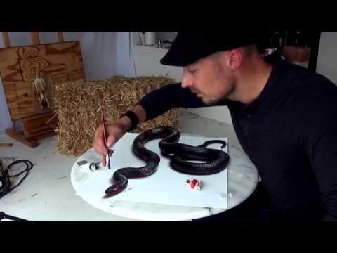 Incroyable Un Serpent Dessiné En 3d Très Réaliste