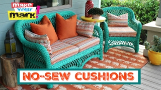 How to: No Sew Pillows And Cushions