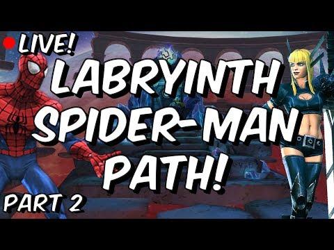 Labyrinth Spider-Man, Magik, War Machine & Gamora - Marvel Contest Of Champions