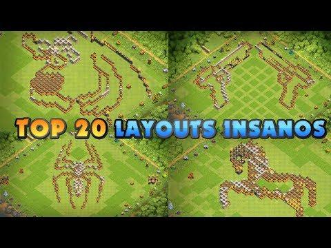 TOP 20 LAYOUTS INSANOS/ENGRAÇADOS PARA CV12 #3 (TOP 20 INSANE/FUNNY BASE DESIGN TH12 #3)