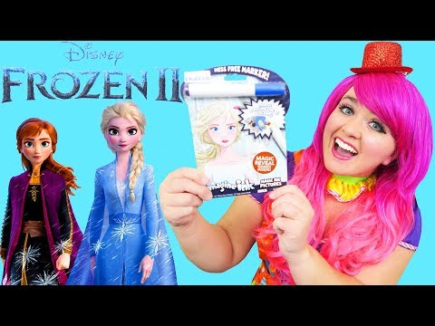 Coloring Frozen 2 Magic Ink Coloring Book Imagine Ink Marker | KiMMi THE CLOWN