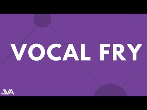 VOCAL FRY - VOCAL EXERCISE