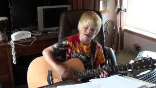 Justin Bieber - Love Me by 9 yr. old Carson Lueders acoustic cover