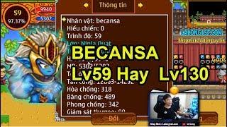 ►Ninja School Online | BECANSA Lv59 Hay Lv130...Quạt Mạnh Đến Cỡ Nào
