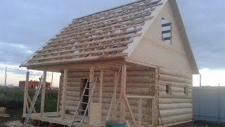 Баня-Дом с высокой крышей 6х6(Проект большой бани 6х4 с террасой 2х6 и высокой мансардной крыши. Баню строили в Набережных Челнах 12 дней...., 2015-09-06T12:19:09.000Z)