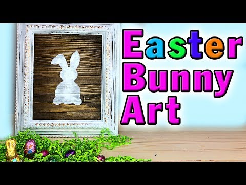 Easter Bunny Art DIY - Easter Craft