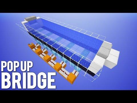 Minecraft: Smart Pop Up Bridge [2 Deep Water Bridge]