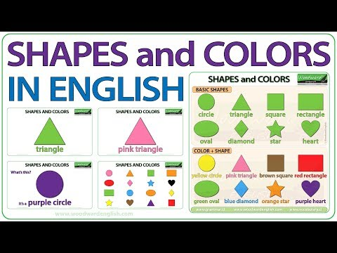 Shapes In English - Basic Shapes And Colours