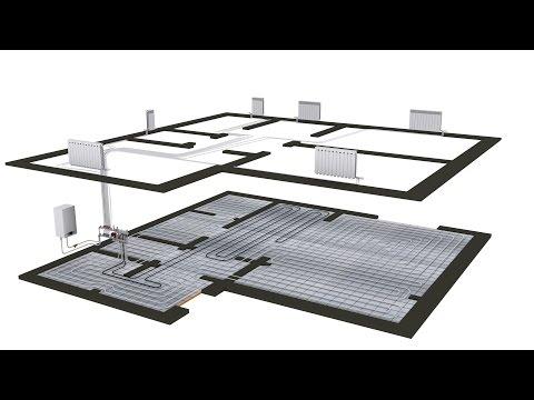 видео: Схема отопления двухэтажного дома теплый пол + коллекторное отопление