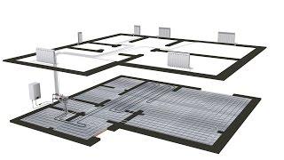 видео 3D Схема однотрубной системы отопления из металлопластика