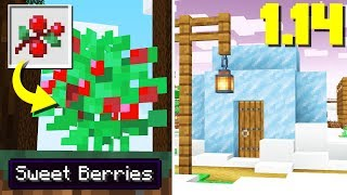 NEW Minecraft Snapshot: SWEET BERRIES! MORE New Villages (1.14 Update)