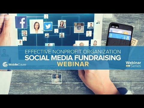 Effective Social Media Fundraising for Nonprofits Webinar