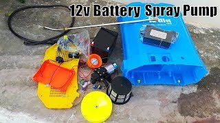 Make Agriculture 12v Battery Spray Pump || Agriculture battery spray pump Parts.
